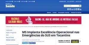 MS Implanta Excelência Operacional nas Emergências do SUS em Tocantins
