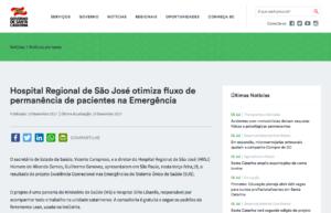 Hospital Regional de São José otimiza fluxo de permanência de pacientes na Emergência