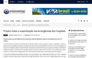 Projeto reduz a superlotação nas emergências dos hospitais