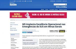 MS Implanta Excelência Operacional nas Emergências do SUS em Minas Gerais