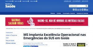 MS Implanta Excelência Operacional nas Emergências do SUS em Goiás